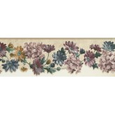New  Arrivals Wall Borders: Floral Wallpaper Border SA75752DW