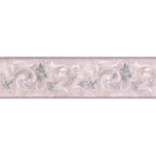 5 1/4 in x 15 ft Prepasted Wallpaper Borders - Vintage Wall Paper Border SA75772