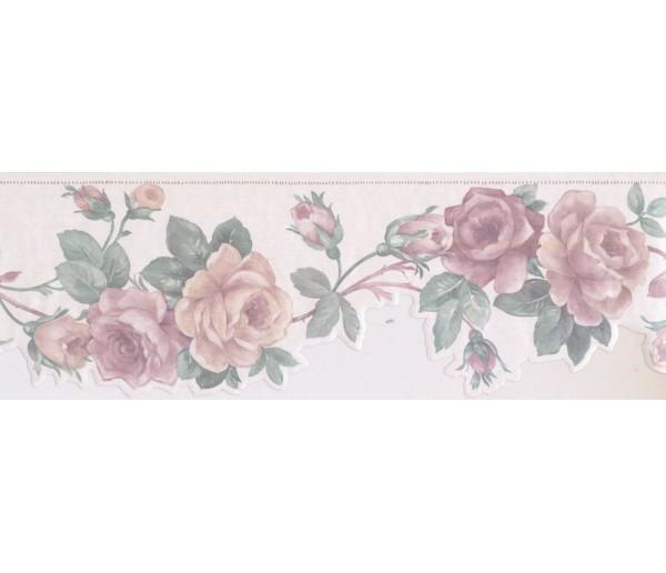 New  Arrivals Wall Borders: Floral Wallpaper Border SA75777DW