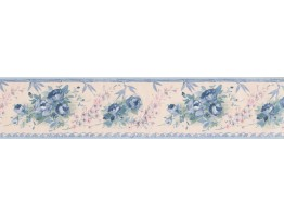4.25 in x 15 ft Prepasted Wallpaper Borders - Floral Wall Paper Border SA75781