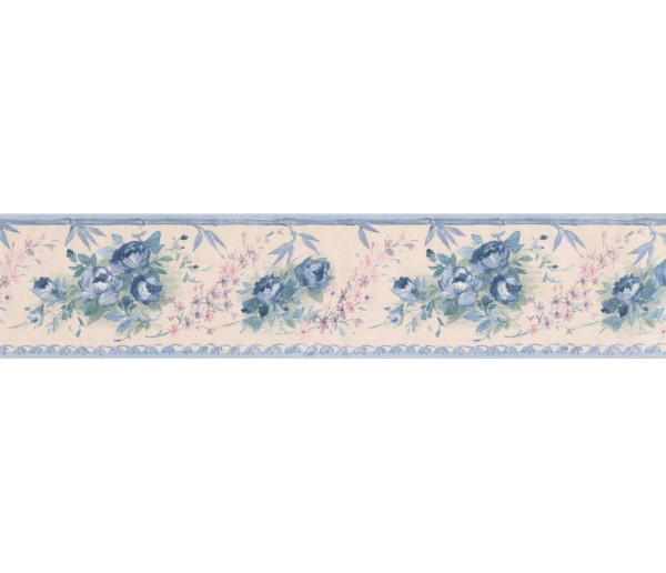 New  Arrivals Wall Borders: Floral Wallpaper Border SA75781