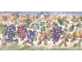 Prepasted Wallpaper Borders - Fruits Wall Paper Border SC028113B