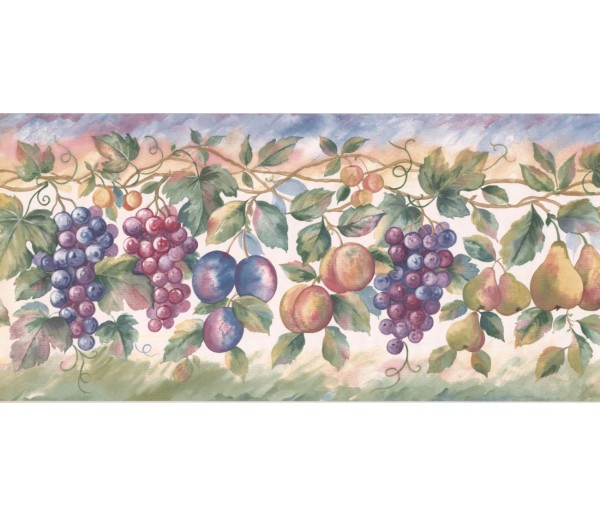 New  Arrivals Wall Borders: Fruits Wallpaper Border SC028113B
