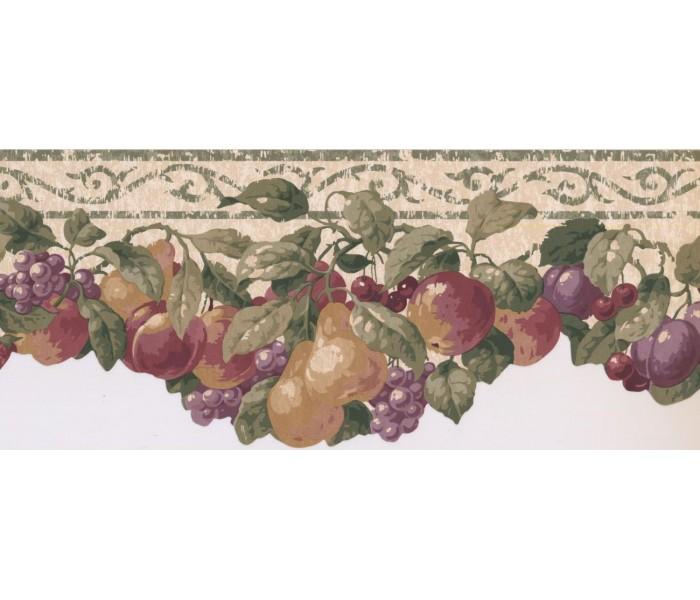 New  Arrivals Wall Borders: Fruits Wallpaper Border SC028153B