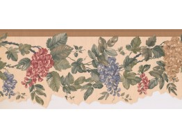 8.25 in x 15 ft Prepasted Wallpaper Borders - Floral Wall Paper Border SF76185B