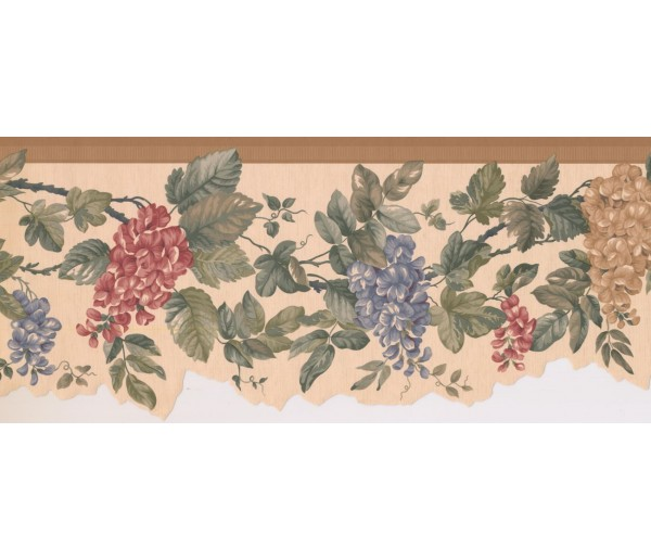 New  Arrivals Wall Borders: Floral Wallpaper Border SF76185B