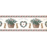 New  Arrivals Wall Borders: Rabbit and Fruits Wallpaper Border SG2121B