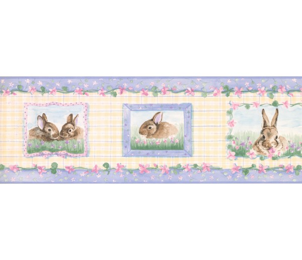 New  Arrivals Wall Borders: Rabbits Wallpaper Border SM515B