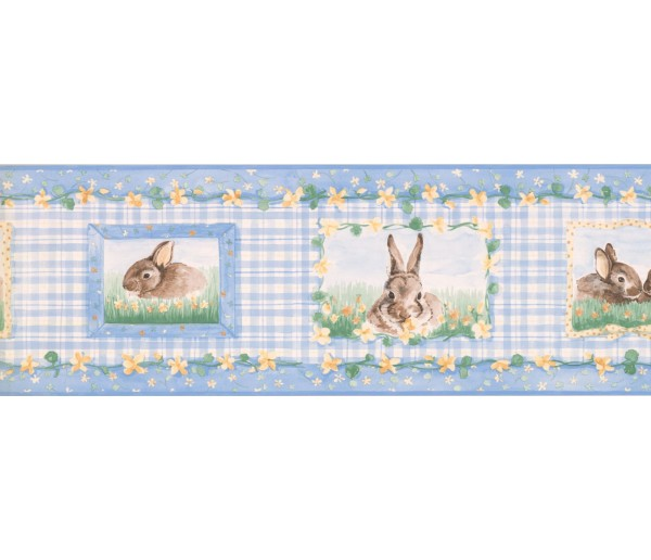 New  Arrivals Wall Borders: Rabbits Wallpaper Border SM516B