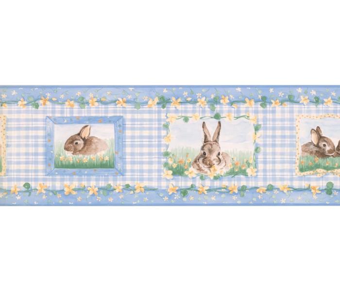 New  Arrivals Wall Borders: Rabbits Wallpaper Border SM516B