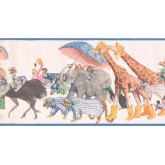 New  Arrivals Wall Borders: Animals Wallpaper Border SM576B