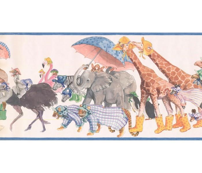 New  Arrivals Wall Borders: Animals Wallpaper Border SM576B