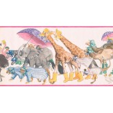 New Arrivals Jungle Animals Wallpaper Border SM578B York