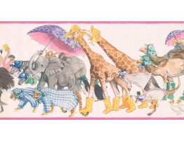 Prepasted Wallpaper Borders - Animals Wall Paper Border SM578B