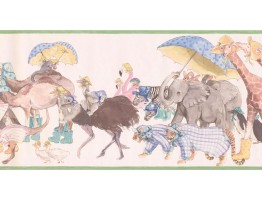 Prepasted Wallpaper Borders - Animals Wall Paper Border SM605B