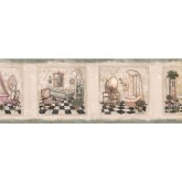 Bathroom: Bathroom Wallpaper Border SP76478