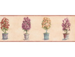 Prepasted Wallpaper Borders - Garden Wall Paper Border SP76489