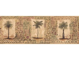 Prepasted Wallpaper Borders - Palm Tree Wall Paper Border SP76492L