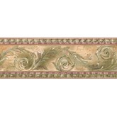 Prepasted Wallpaper Borders - Contemporary Wall Paper Border SR026102
