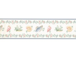 Prepasted Wallpaper Borders - Conch Wall Paper Border TD3241B