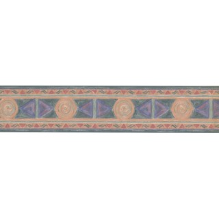 4.25 in x 15 ft Prepasted Wallpaper Borders - Modern Wall Paper Border TE1034B