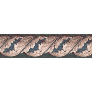 5 in x 15 ft Prepasted Wallpaper Borders - Leaves Wall Paper Border TE9137B