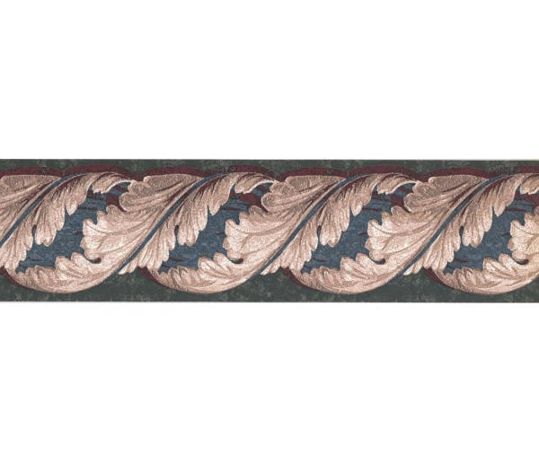 New  Arrivals Wall Borders: Leaves Wallpaper Border TE9137B