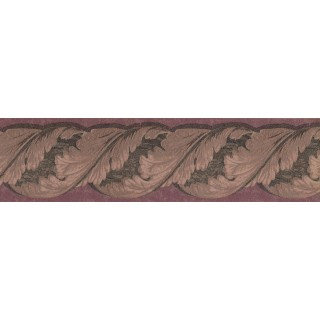 5 1/8 in x 15 ft Prepasted Wallpaper Borders - Leaves Wall Paper Border TE9139B