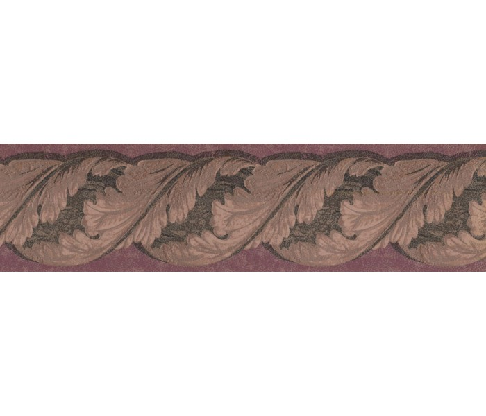 New  Arrivals Wall Borders: Leaves Wallpaper Border TE9139B