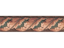 Prepasted Wallpaper Borders - Leaves Wall Paper Border TE9140B