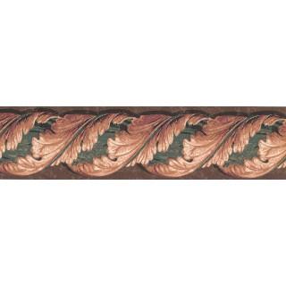 5 1/8 in x 15 ft Prepasted Wallpaper Borders - Leaves Wall Paper Border TE9140B