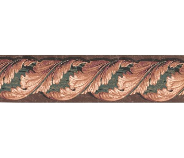 Prepasted Wallpaper Borders - Leaves Wall Paper Border TE9140B