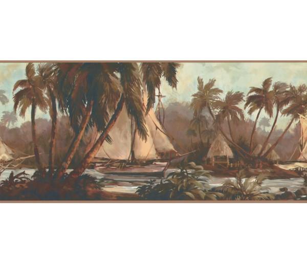 New  Arrivals Wall Borders: Palm Tree Wallpaper Border TG2108B