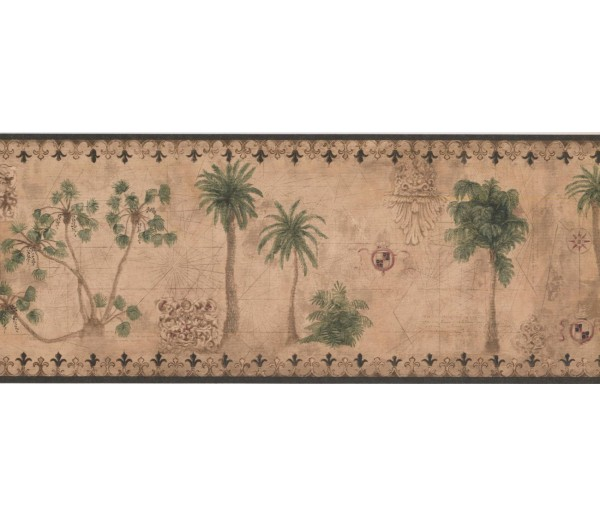 New  Arrivals Wall Borders: Palm Tree Wallpaper Border TG2131B