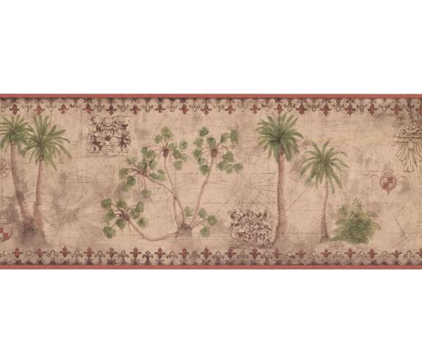 New  Arrivals Wall Borders: Palm Tree Wallpaper Border TG2132B