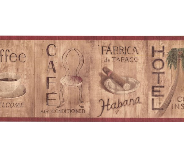 New  Arrivals Wall Borders: Café Wallpaper Border TG2260B