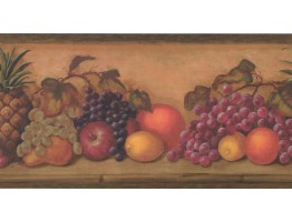 10 1/4 in x 15 ft Prepasted Wallpaper Borders - Fruits Wall Paper Border TK6200B