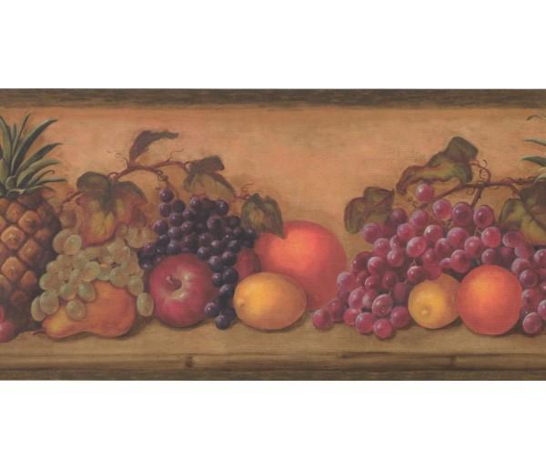 New  Arrivals Wall Borders: Fruits Wallpaper Border TK6200B