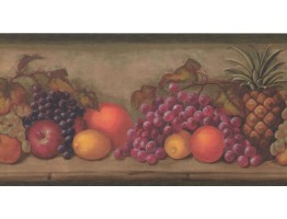 Prepasted Wallpaper Borders - Fruits Wall Paper Border TK6202B