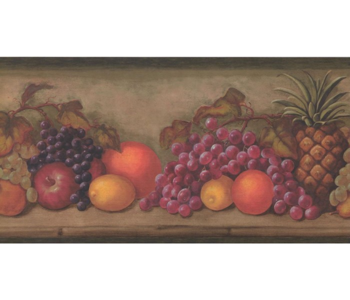 New  Arrivals Wall Borders: Fruits Wallpaper Border TK6202B