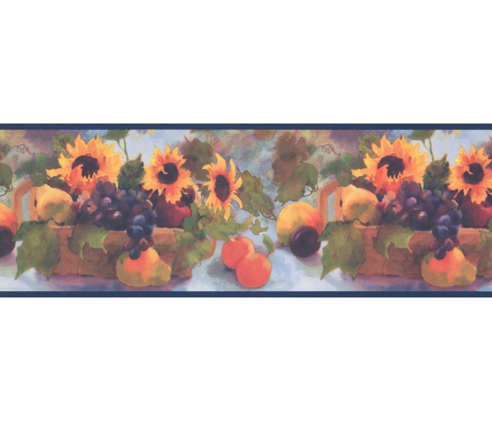 New  Arrivals Wall Borders: Sunflower and Fruits Wallpaper Border TK6231B