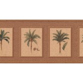 New  Arrivals Wall Borders: Palm Tree Wallpaper Border TK6247B