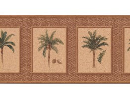 10 1/4 in x 15 ft Prepasted Wallpaper Borders - Palm Tree Wall Paper Border TK6247B