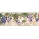 New  Arrivals Wall Borders: Grape Fruits Wallpaper Border TK6412B