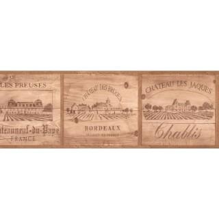 7 in x 15 ft Prepasted Wallpaper Borders - France Wall Paper Border TK6461B