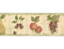 7 in x 15 ft Prepasted Wallpaper Borders - Fruits Wall Paper Border TK78256