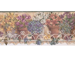 9 in x 15 ft Prepasted Wallpaper Borders - Garden Wall Paper Border TS106441