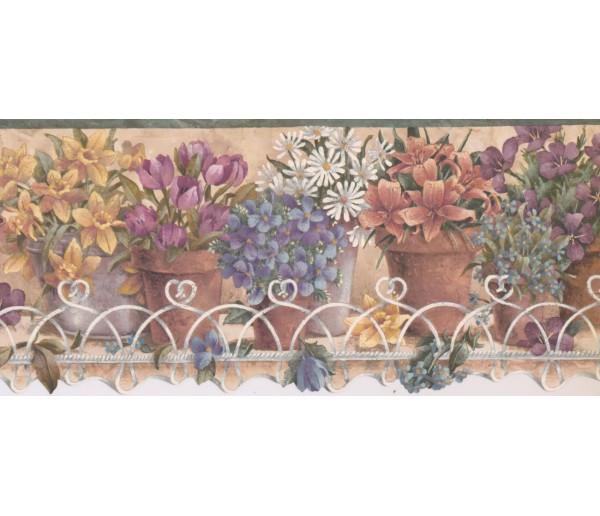 New  Arrivals Wall Borders: Garden Wallpaper Border TS106441
