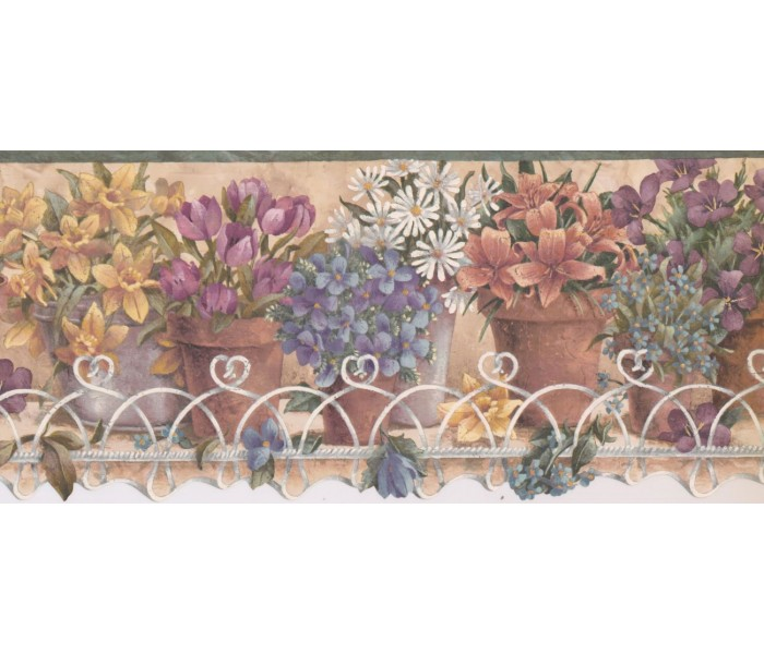 New  Arrivals Wall Borders: Garden Wallpaper Border TS106441