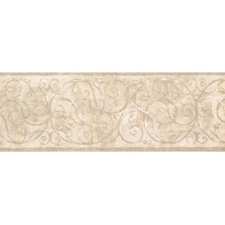7 in x 15 ft Prepasted Wallpaper Borders - Vintage Wall Paper Border TT5200B